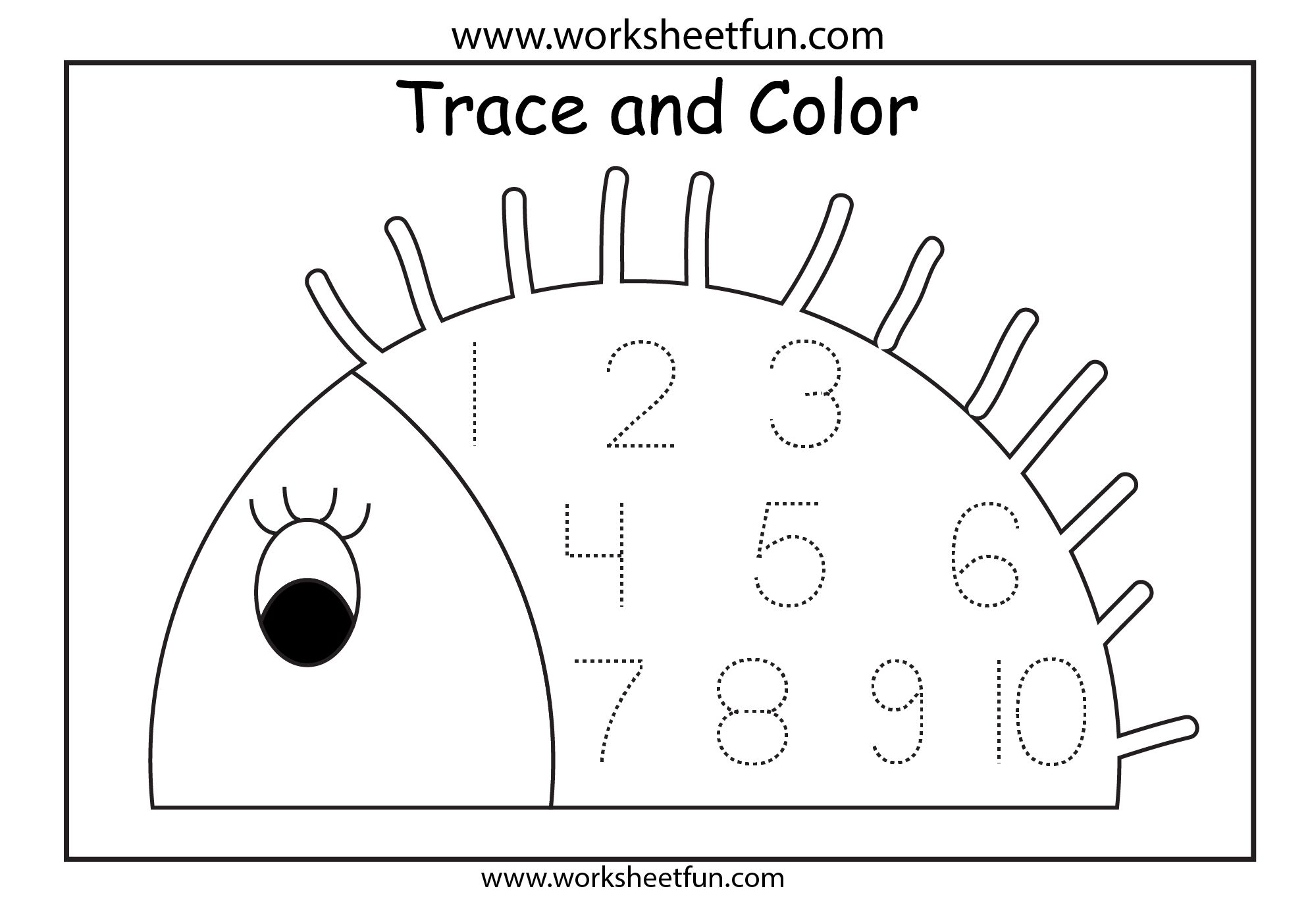 Number Tracing – 1 Worksheet