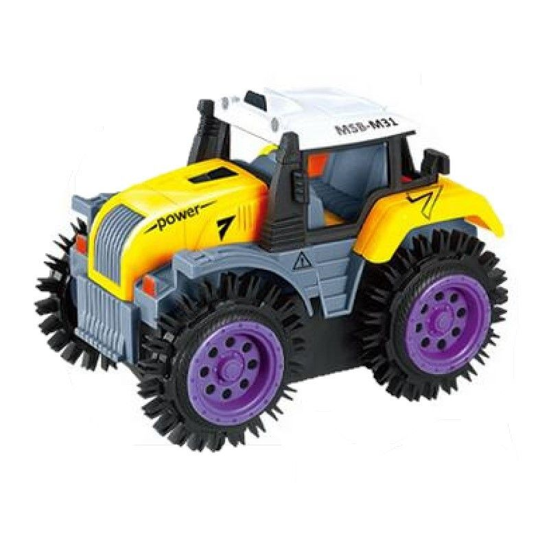 Electric Farm Track Super Tipping Car for kids Yellow