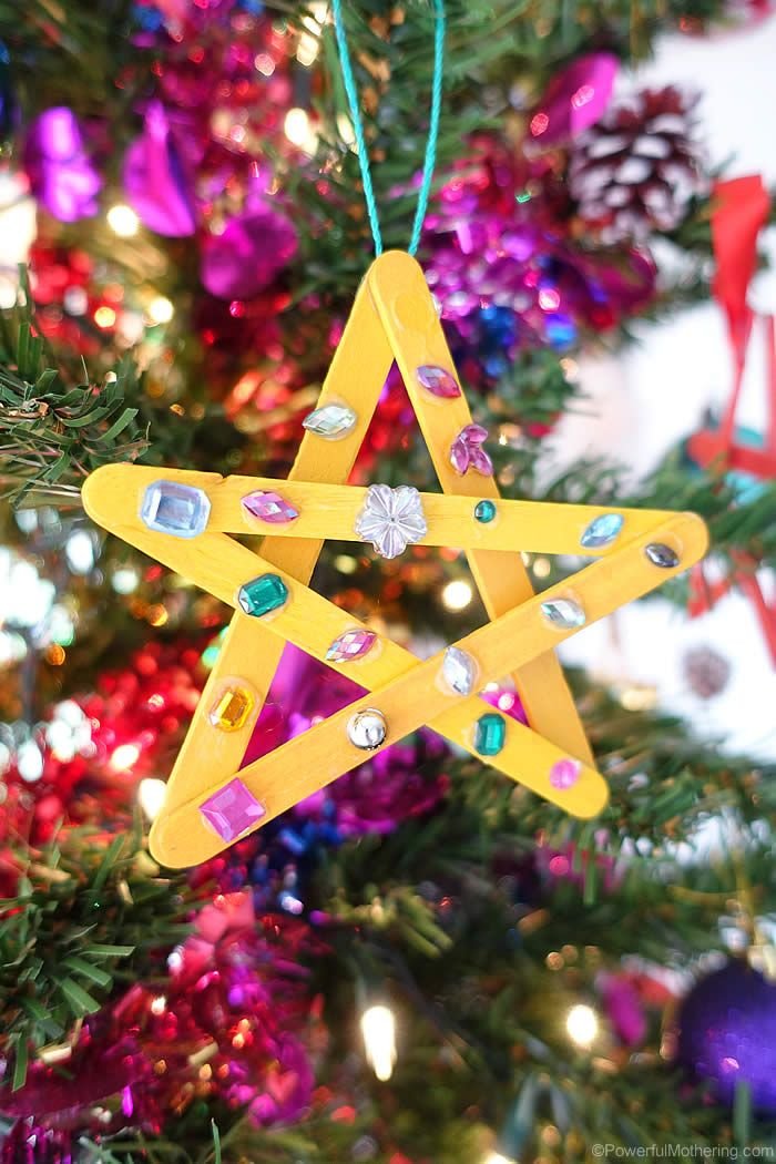 Easy Star Craft For Young Kids Christmas Ornaments Christmas