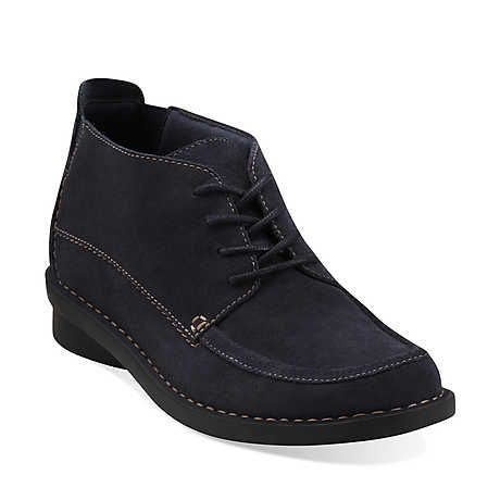 Nikki Class in Navy Suede - Womens Boots from Clarks