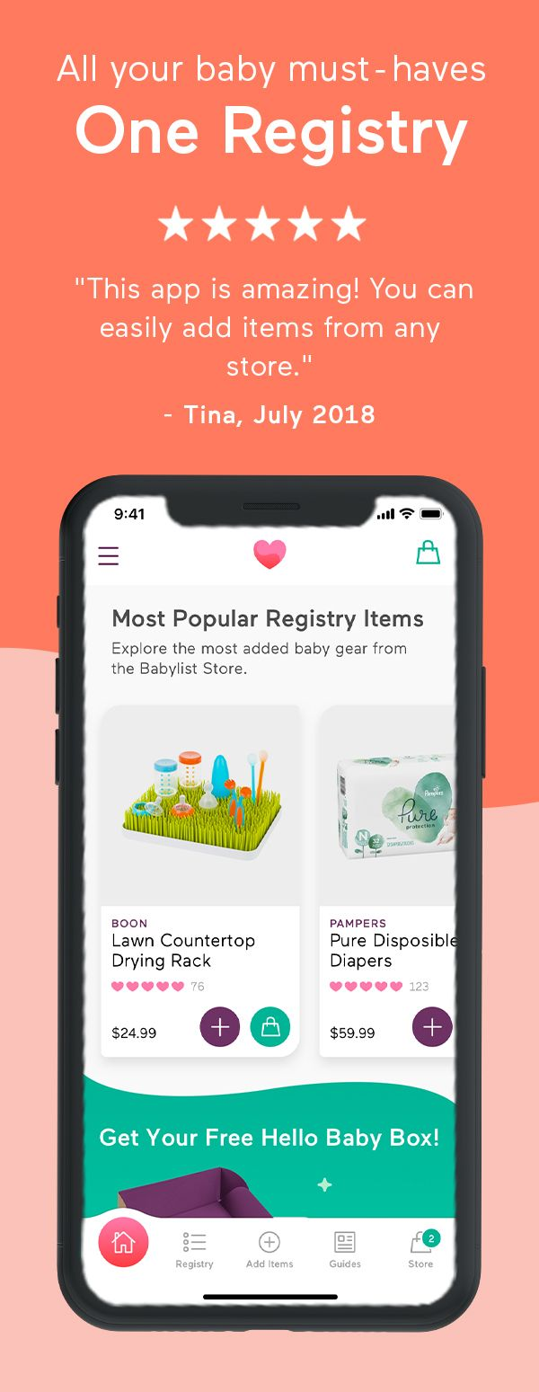 Any Item. Any Store. One Registry. | Baby list, Baby ...