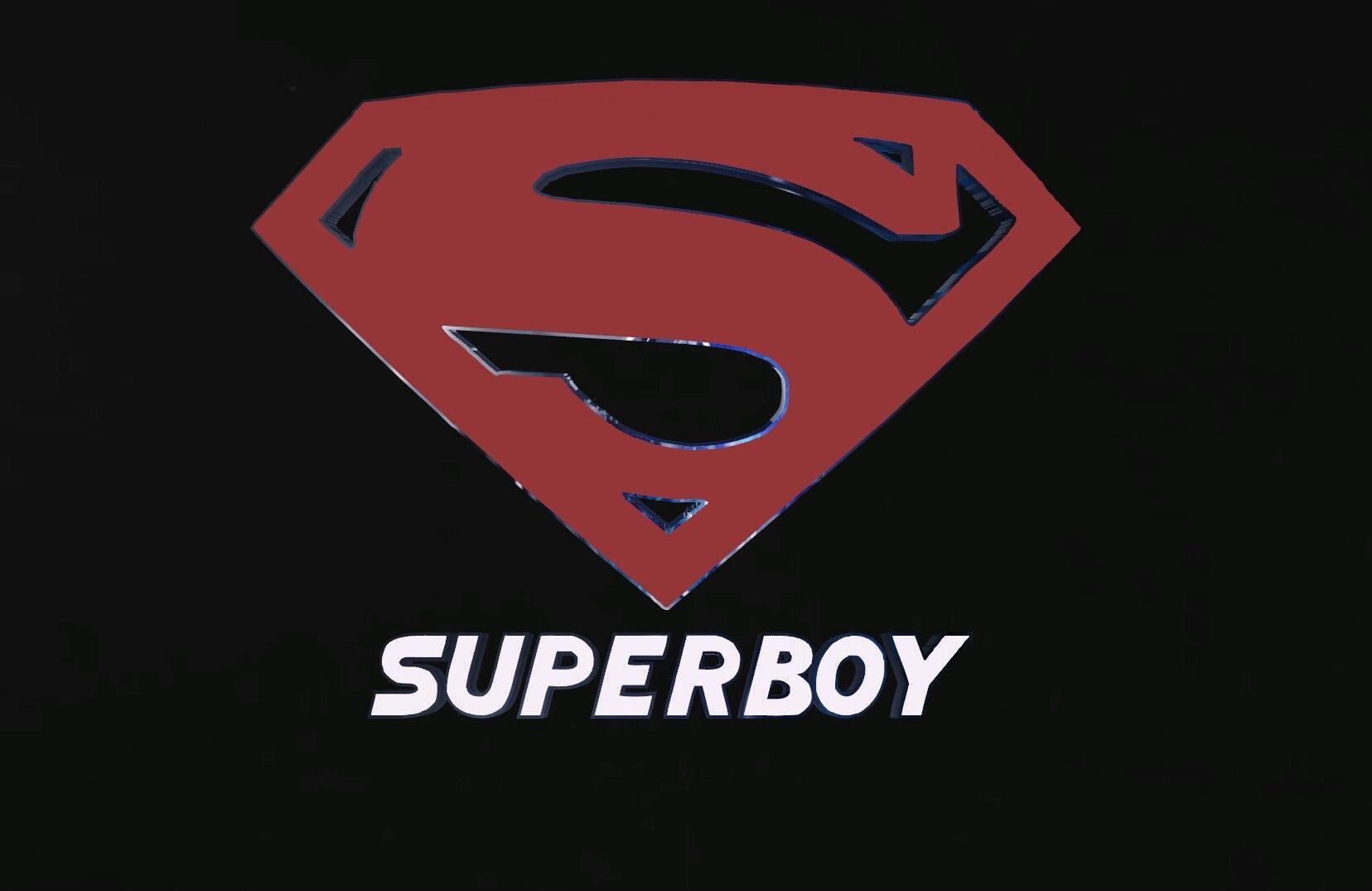 El logo de superboy terminado.