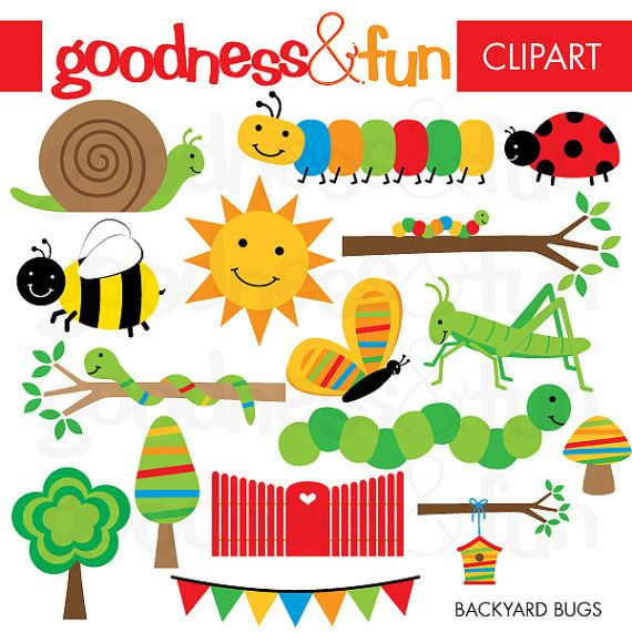 buy 2 get 1 free backyard bugs clipart digital bug insect rh pinterest com free cricket bug clipart free bug clipart