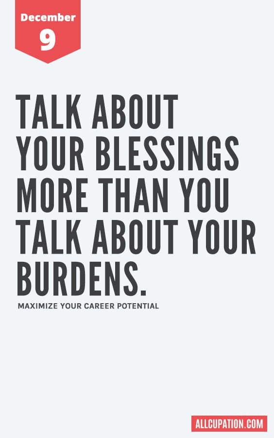 daily inspiration talk about your blessings some