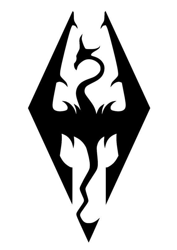 Skyrim Logo All Things Gamer Tattoos Symbols Skyrim