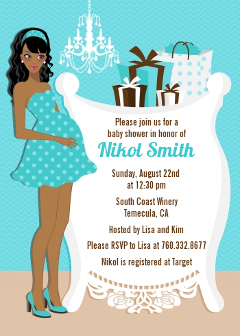 Get FREE Template African American Baby Shower Invitations Baby