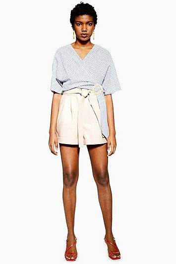 c08104949c7ae Womens Ecru Leather Look Oversized Shorts - Ivory in 2019