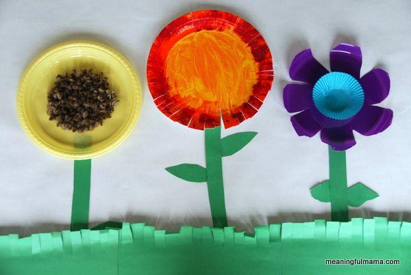 Paper Plate Flower Garden