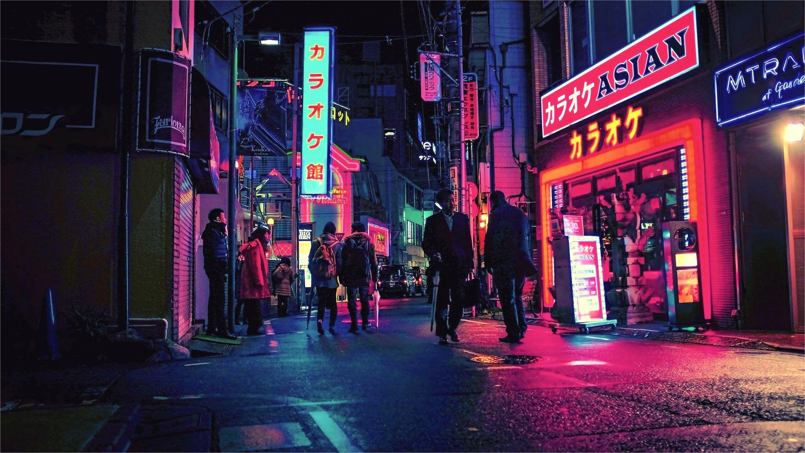 4k Tokyo Street Wallpaper In 2020 Neon Wallpaper Neon Noir Neon Aesthetic