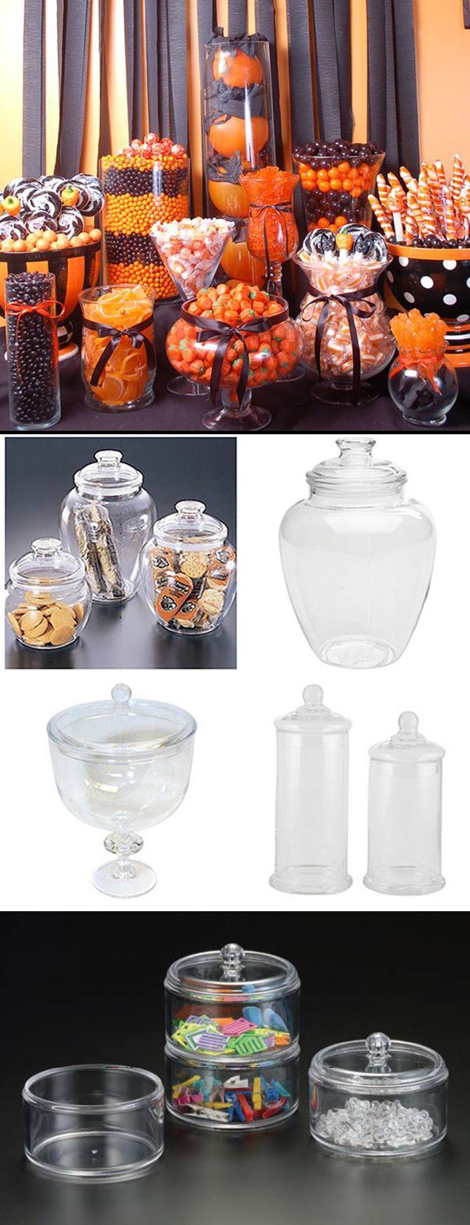 ACRYLIC APOTHECARY JARS. I personally enjoy a Candy & Treat Buffet ...