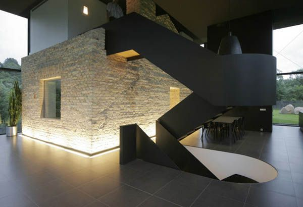 Old Cannon Foundry modified into a Contemporary Glass Family Home, Architect Natkevicius