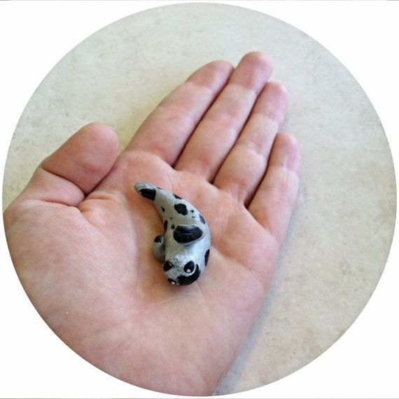 Harp Seal by WildClayAnimals on Etsy