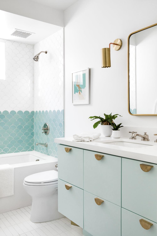 Rad Trad in 6  Green bathroom, Bathroom interior, Bathroom