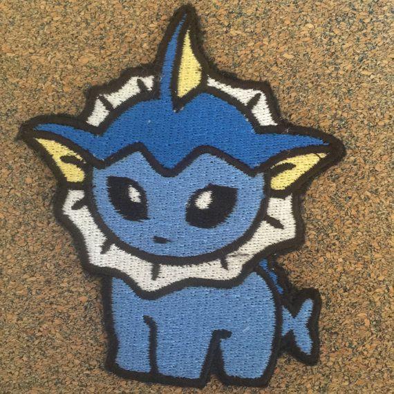 "Pokemon Vaporeon Iron//Sew ON Patch Cloth Patch Sew Appliqué 2.25"" x 2.25"""