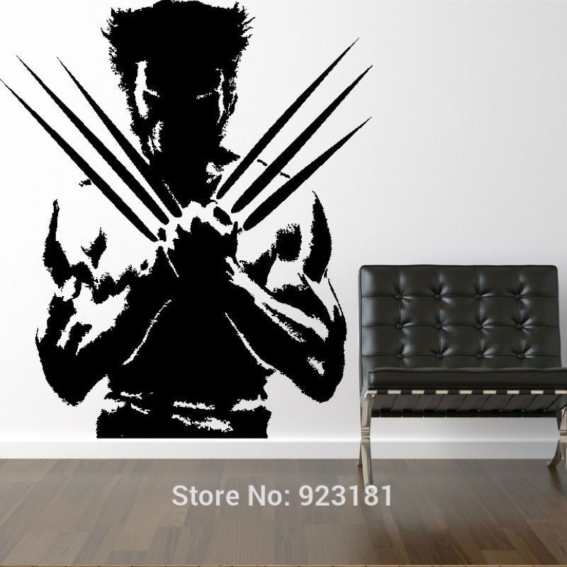 Dc Comics Wall Art the wolverine xmen dc comic cool boys wall art stickers decals