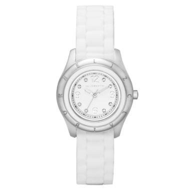 Liz Claiborne® White Rubber Watch  found at @JCPenney