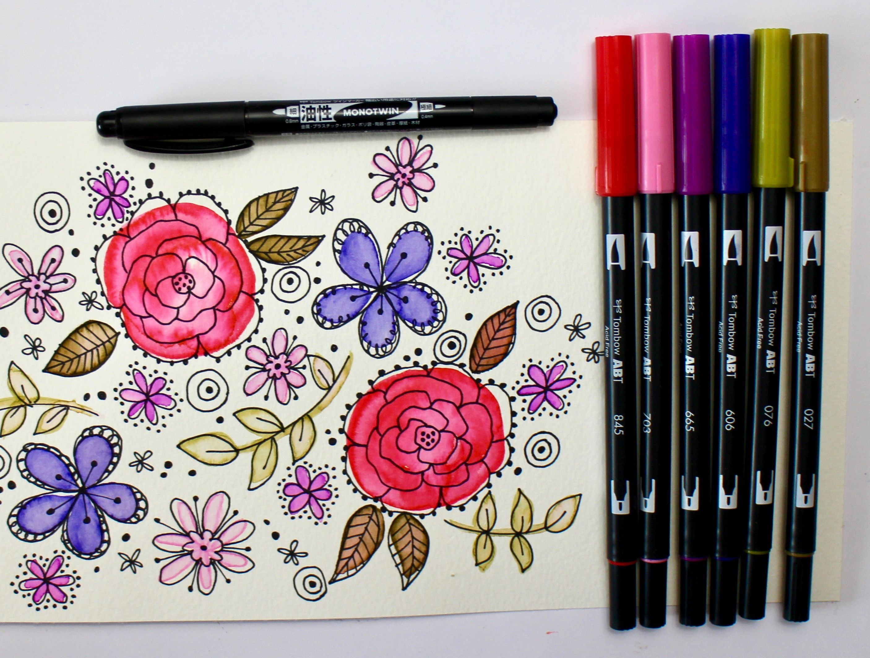 Marie New Again Retro Palette Tombow Usa Blog Brush Pen Art