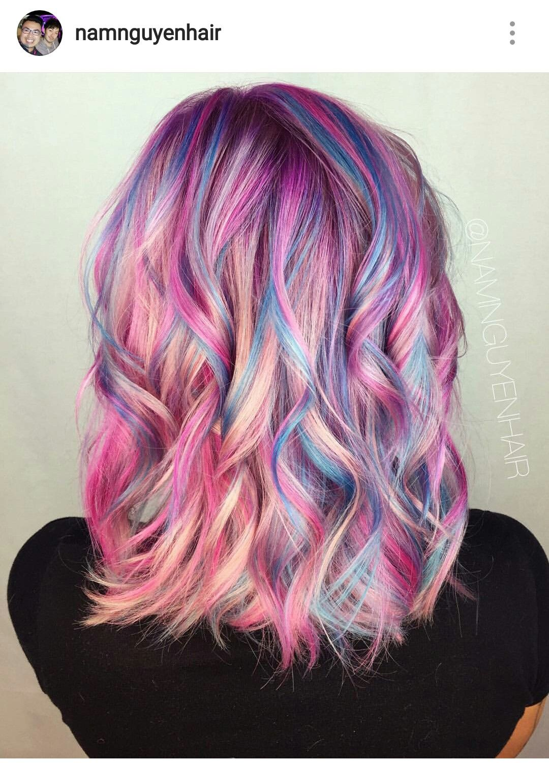 Pin By Dominique Arleane On Hair Unique Color Unicorn Hair Color Hair Styles Hair Color Pastel