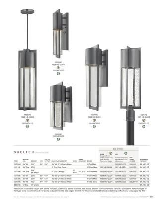 style options from Hinkley lighting