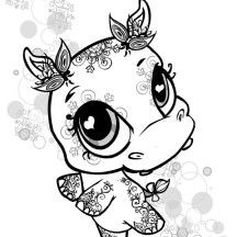 Little Cute Hippo Coloring Page Elephant Coloring Page Cute