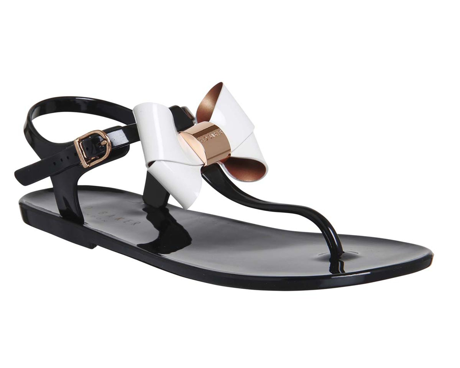 337cbe60e8767d Buy Black Cream Ted Baker Verona Bow Sandal from OFFICE.co.uk ...