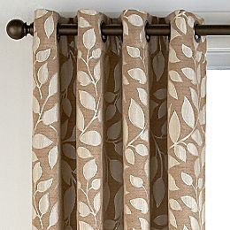 Jcpenney Sonoma Leaf Grommet Top Curtain Panel Sullivan Khaki Living Room Grey On Patio