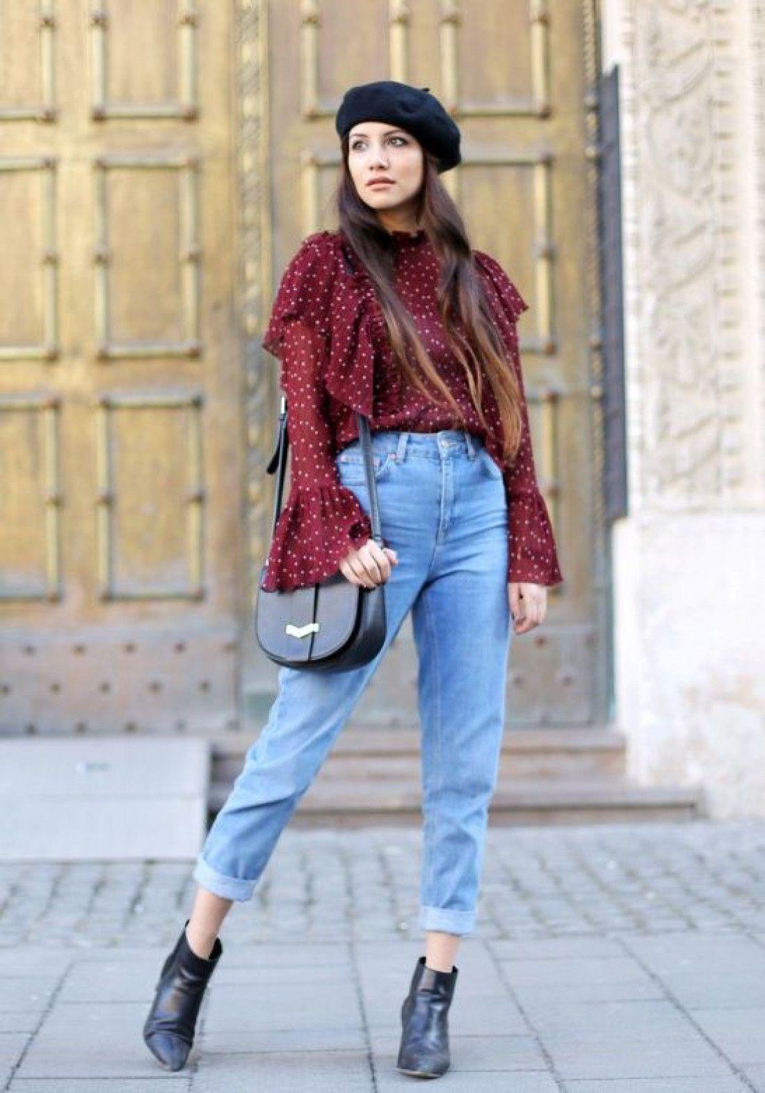 с чем носить джинсы мом картинки образы фото