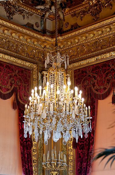 One of the four corner grand chandeliers in the grand salon large one of the four corner grand chandeliers in the grand salon large drawing room aloadofball Images