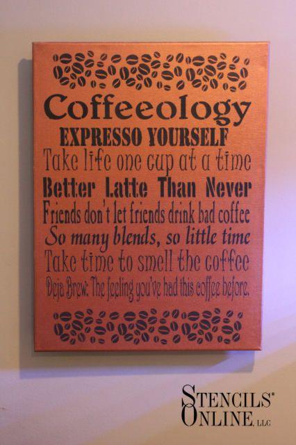 Coffee-lolgy canvas