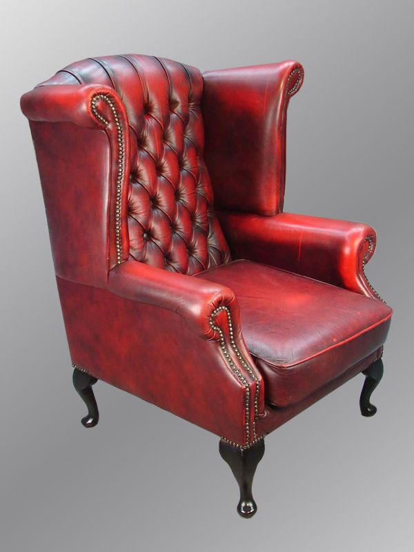 I Want A Red Leather Wingback Chair This Just Screams Dad S