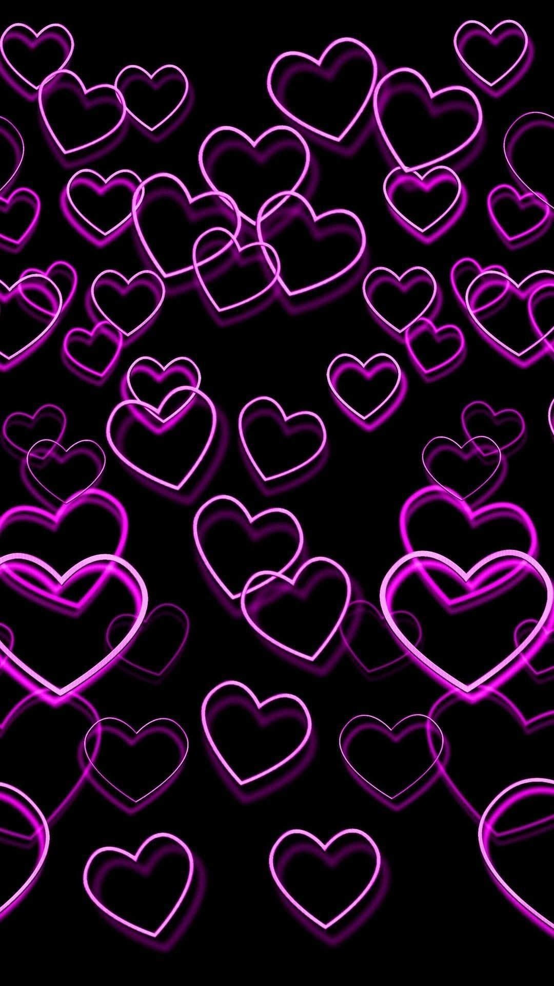 Pin By Queens On Pink Black Heart Iphone Wallpaper Heart