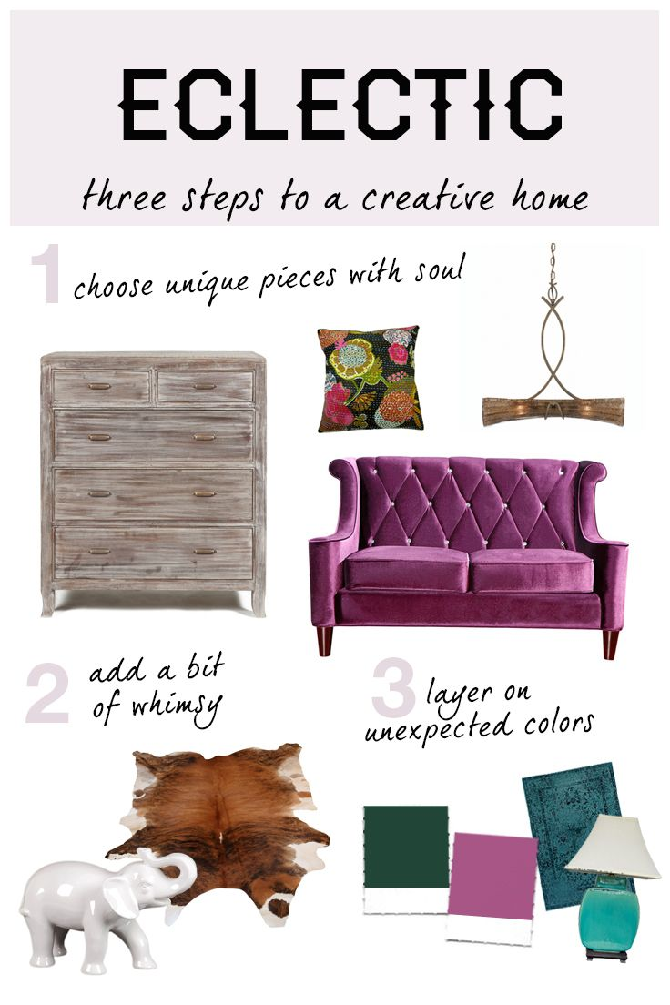 Eclectic home decor is all about expressing yourself with color and