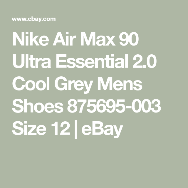 Nike Air Max 90 Ultra Essential 2.0 Cool Grey Mens Shoes