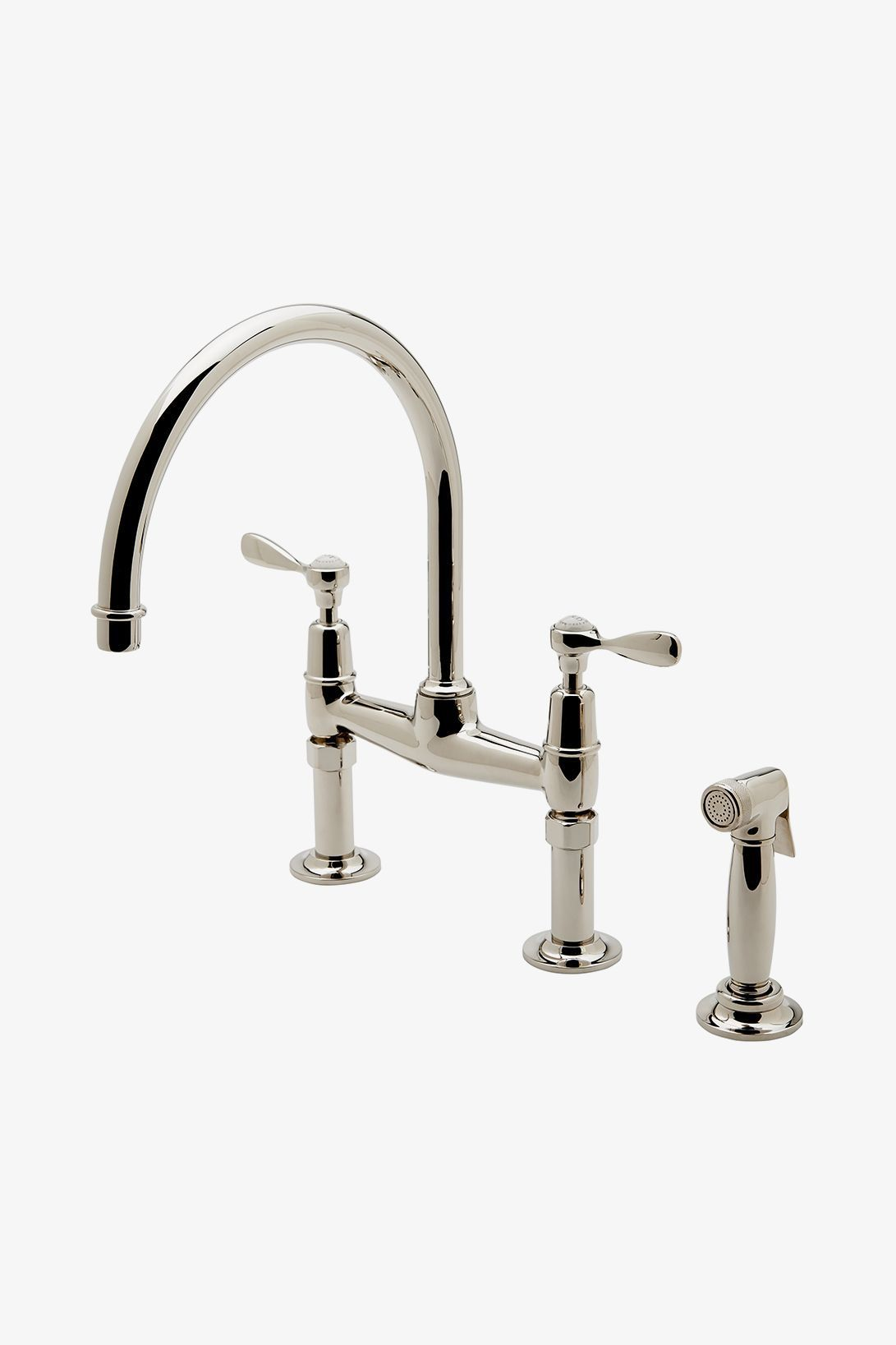Easton Classic Two Hole Bridge Gooseneck Kitchen Faucet ...