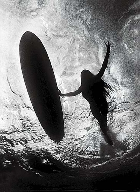 surfer girl - more in the water than on the board <3 :)