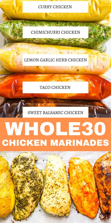 5 Easy Whole30 Chicken Marinades -