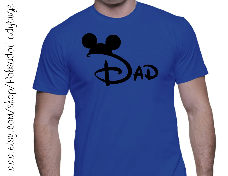 Dad With Mickey Ears Custom Tshirt Heat Transfer Vinyl By - Custom vinyl decals for tee shirts