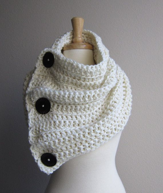 Botón de bufanda capucha Hood mantón / la VAIL / por WarmMeUp