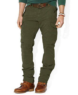 6bc830c81 Polo Ralph Lauren Straight-Fit Canadian Ripstop Cargo Pants - Pants   Jeans  - Men - Macy s