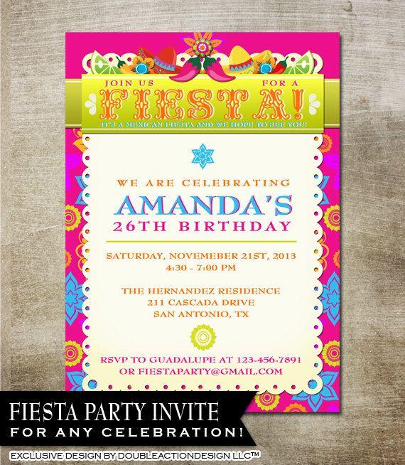 Mexican Fiesta Invitation Fiesta Party Invitation with chili – Mexican Fiesta Party Invitations