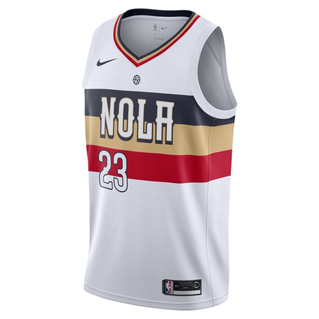 Anthony Davis (nba) Earned City Edition Swingman (New Orleans Pelicans) Men s  Nike NBA Connected Jersey Size M (White) 1649f2ada
