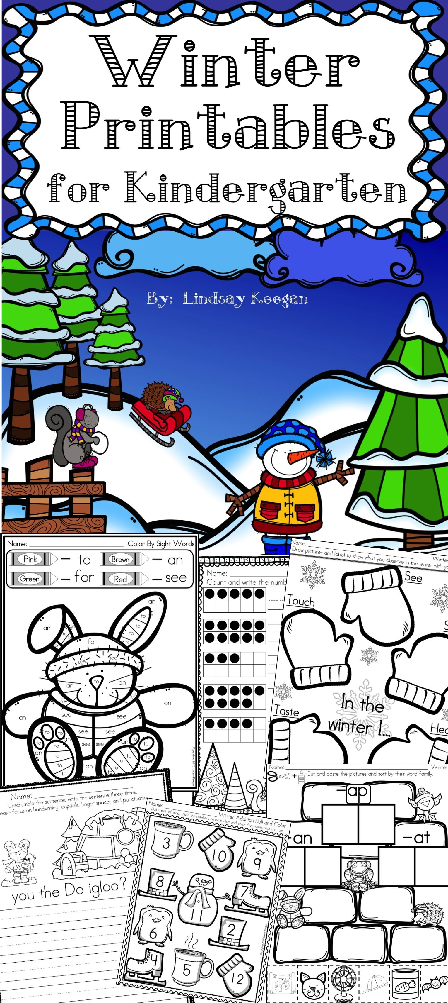 Winter Worksheets And Activities For Kindergarten