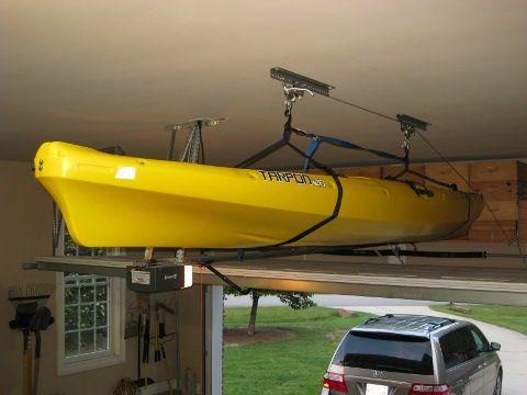 DIY Kayak Hoist | Home | Kayaking, Kayak fishing tips, Kayak