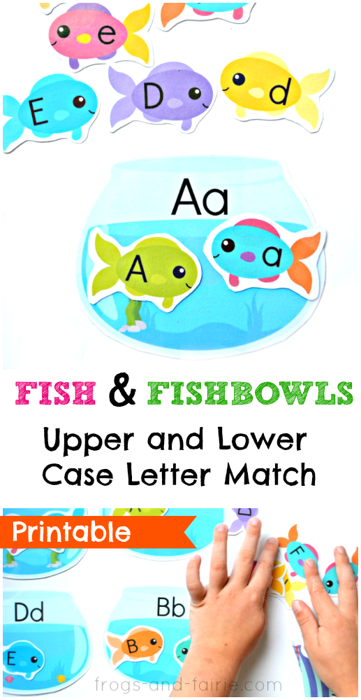 Fish and Fishbowls Upper and Lower Case Letter Match | Lower case ...