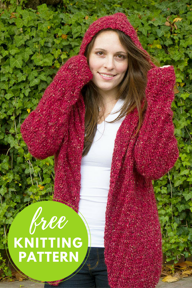 Knitting Pattern Hooded Cardigan : Niall Cardigan Free Knitting Pattern Hooded cardigan ...