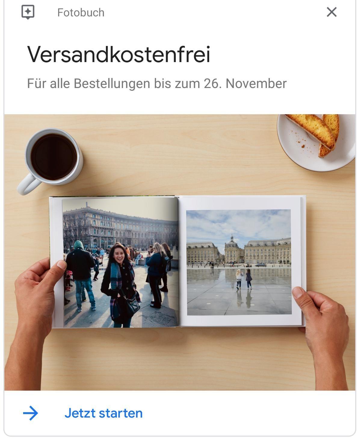Black FridayAktion bei Google Photos Fotobücher jetzt