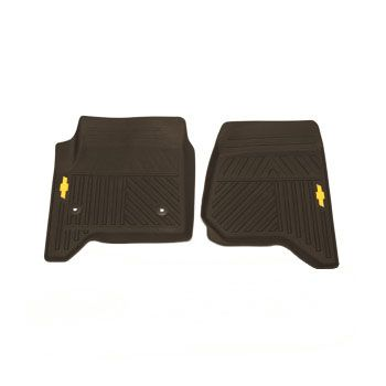 2016 Silverado 1500 Front Floor Mats Premium All Weather Cocoa