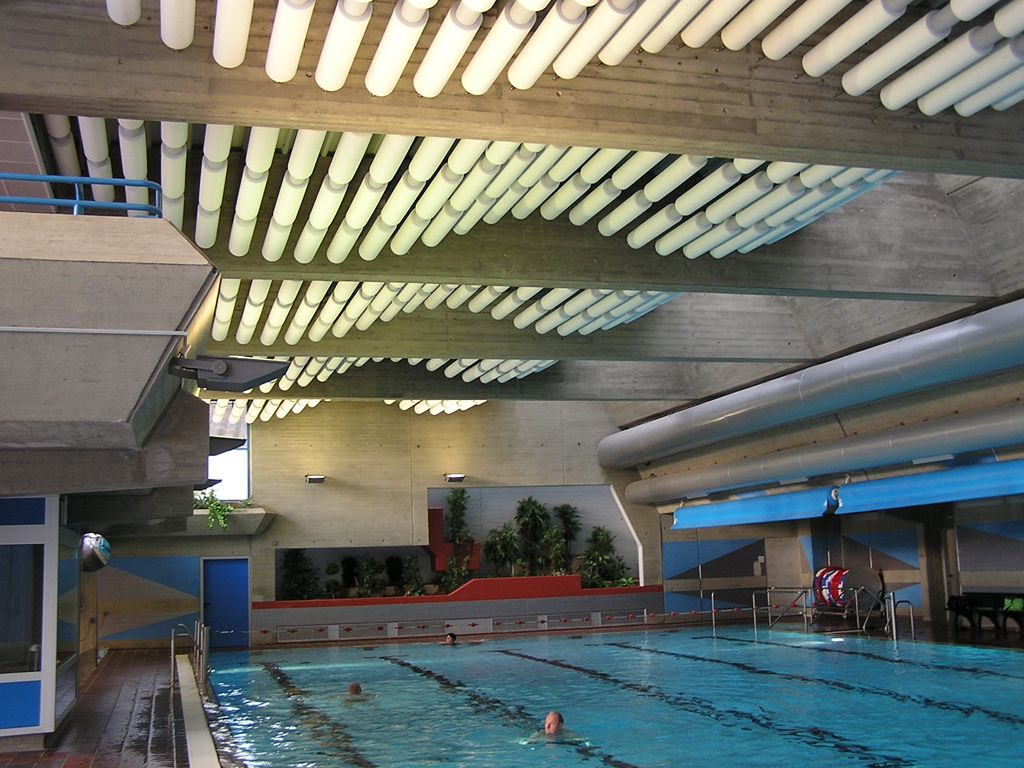 Sonex rondo sound baffle sound proofing pinterest swimming pools ceiling and swimming for Indoor swimming pool ceiling materials