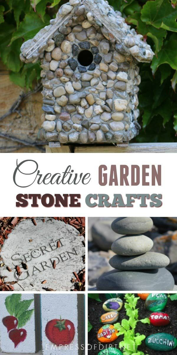 Garden Stone Craft Projects is part of garden Crafts Rocks - Use garden stones to create crafts for the garden  You can use natural stone or decorate it with paints and more