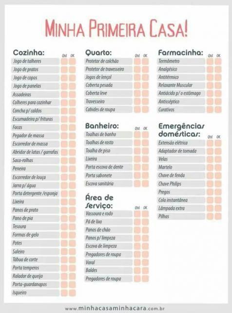 Lista De Cha De Casa Nova As 30 Ideias Mais Completas Para